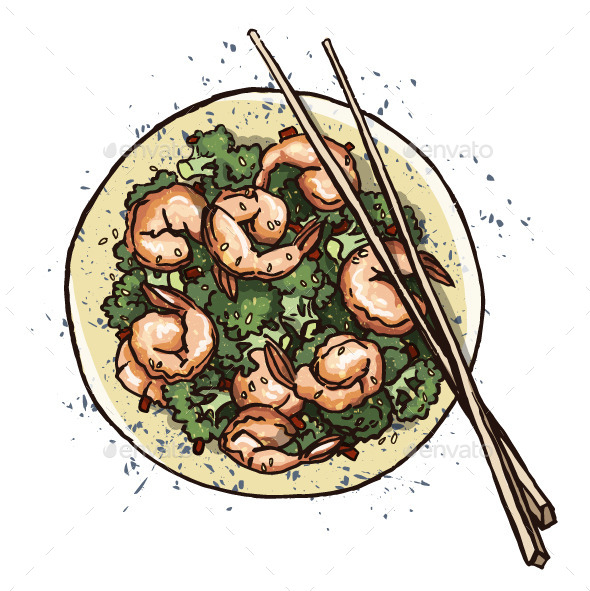 GraphicRiver Seafood Prawn Salad 11582836