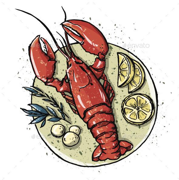 GraphicRiver Lobster Dish 11582880
