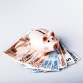 pig bank on euro banknotes - PhotoDune Item for Sale
