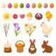 Set of Happy Easter Icons - GraphicRiver Item for Sale