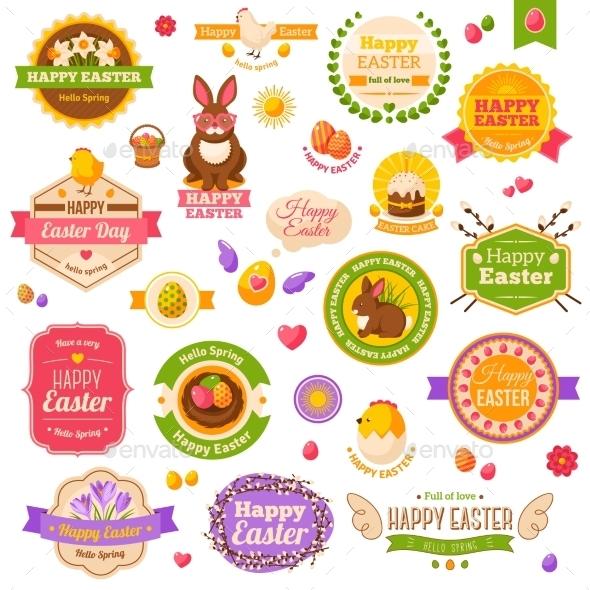 GraphicRiver Easter Scrapbook Set 11582916