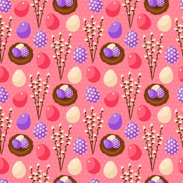 GraphicRiver Easter Seamless Pattern 11583059