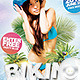 Flyer Summer Bikini Blue Party - GraphicRiver Item for Sale