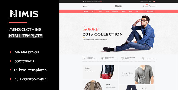 Nimis – eCommerce Shop HTML Template (Shopping) Download