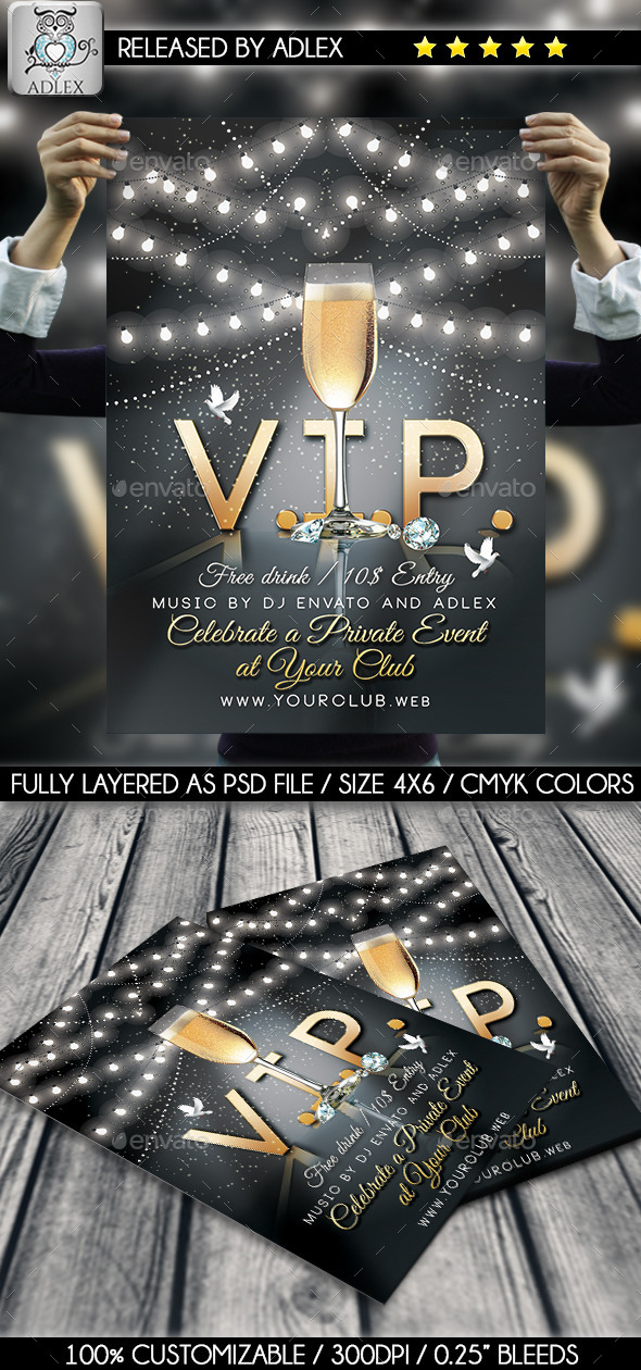 GraphicRiver V.I.P Party Flyer 11583185