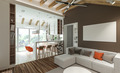 stylish modern interior of the house  - PhotoDune Item for Sale