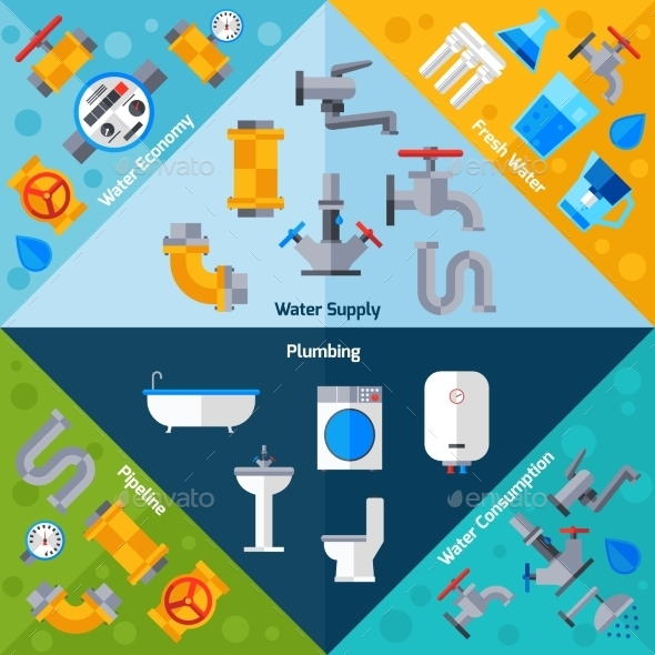 GraphicRiver Water Supply Corners 11583647