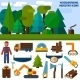 Woodworking Industry Icons - GraphicRiver Item for Sale