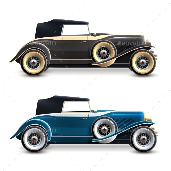 GraphicRiver Retro Car Set 11583668