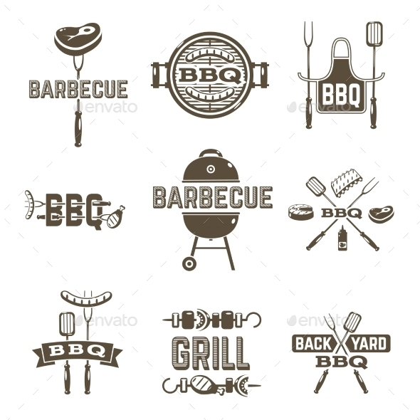 GraphicRiver Barbecue and Grill Labels 11583669