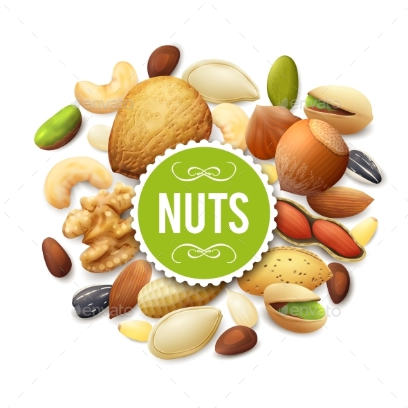 GraphicRiver Nut Collection Illustration 11583670