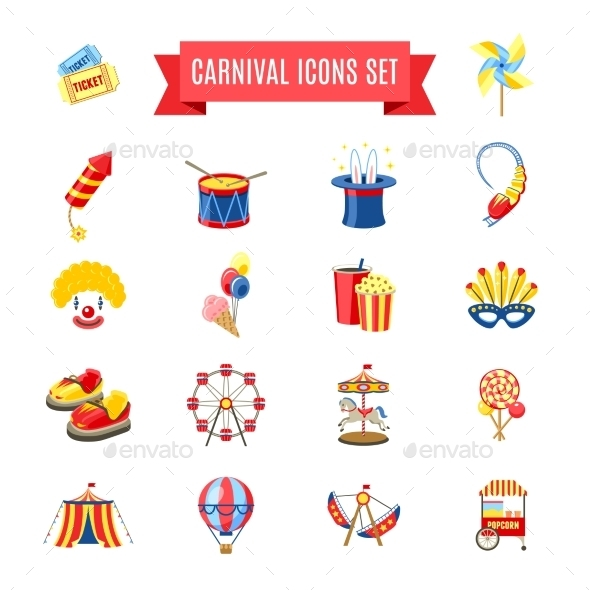 GraphicRiver Carnival Icons Set 11583685