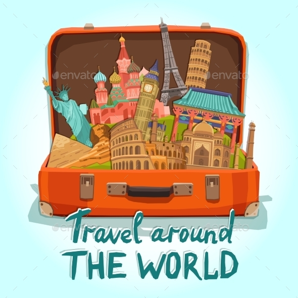 GraphicRiver Tourist Suitcase Illustration 11583716