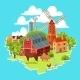 Farm Multicolored Concept - GraphicRiver Item for Sale