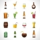 Alcohol Drinks Polygonal Icons - GraphicRiver Item for Sale