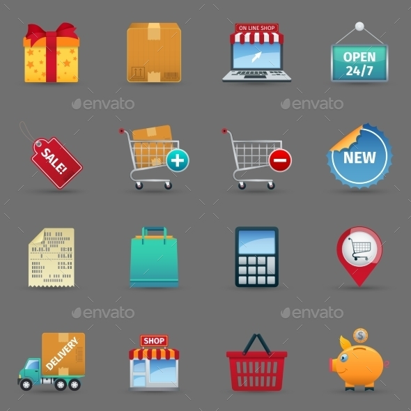 GraphicRiver Shopping Icons Set 11583735