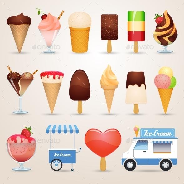 GraphicRiver Ice Cream Cartoon Icons Set 11583738