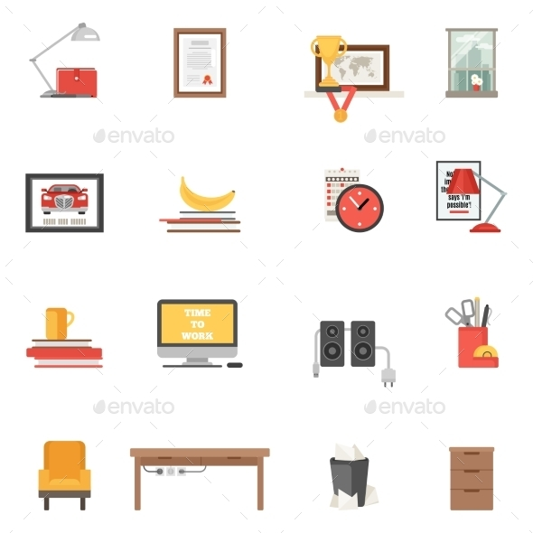 GraphicRiver Room Single Icons 11583741