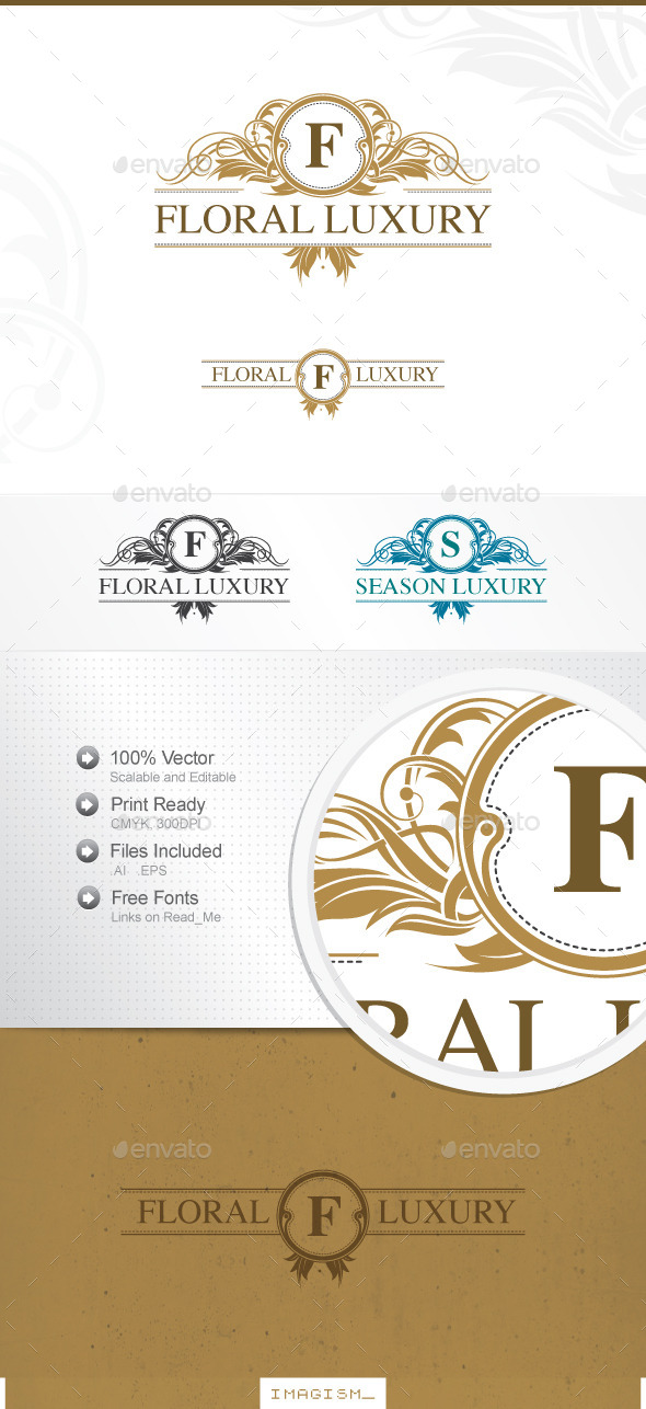GraphicRiver Floral Luxury Logo 11583909