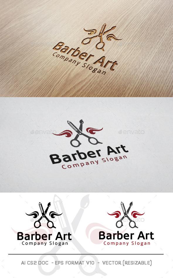 GraphicRiver Barber Art Logo 11583918