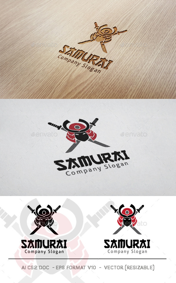 GraphicRiver Samurai Logo 11583935