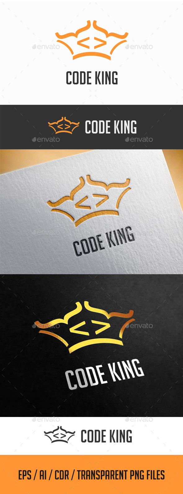 GraphicRiver Code King Logo Template 11566290