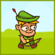 Cartoon Green Archer Kid Animations - ActiveDen Item for Sale