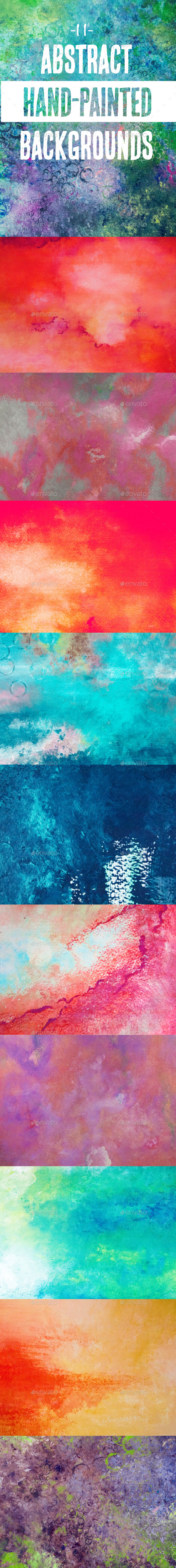GraphicRiver 11 Abstract Hand Painted Backgrounds 11584089