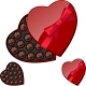 Heart-Shaped Box with Chocolates - GraphicRiver Item for Sale