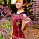 Smiling Attractive Asian American Woman Standing Outdoors - PhotoDune Item for Sale