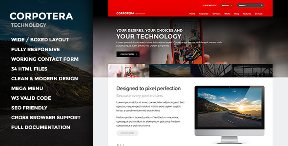 ThemeForest CORPOTERA Responsive Multi-Purpose HTML Template 11546035