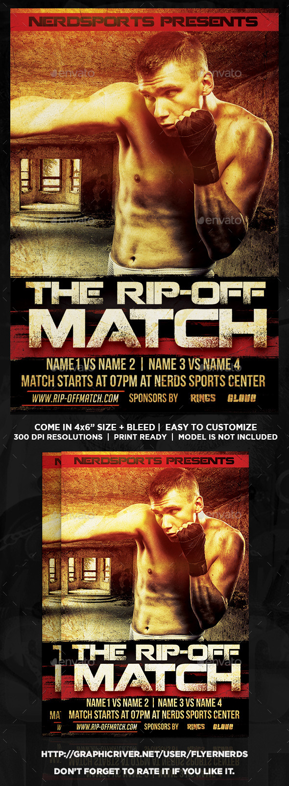 GraphicRiver The Rip-Off Match Sports Flyer 11584899