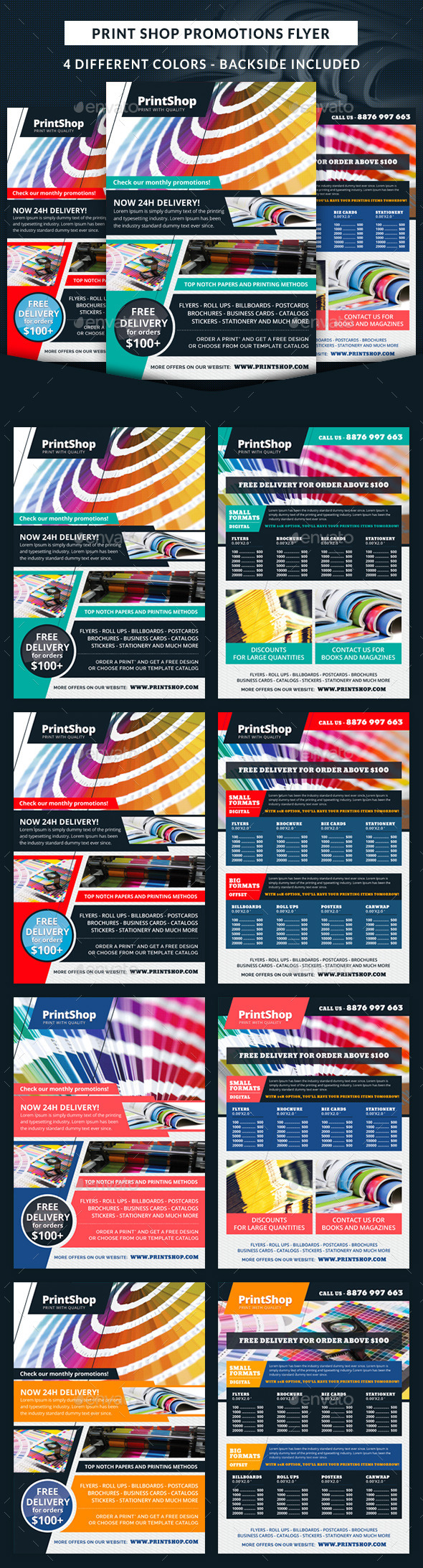 GraphicRiver Print Shop Promotions Business Flyer 11585346