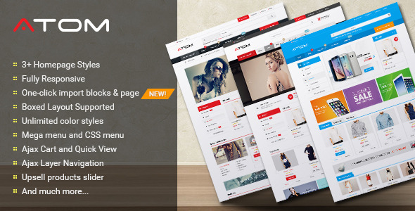 ThemeForest Atom Multipurpose Responsive Magento Theme 11585350
