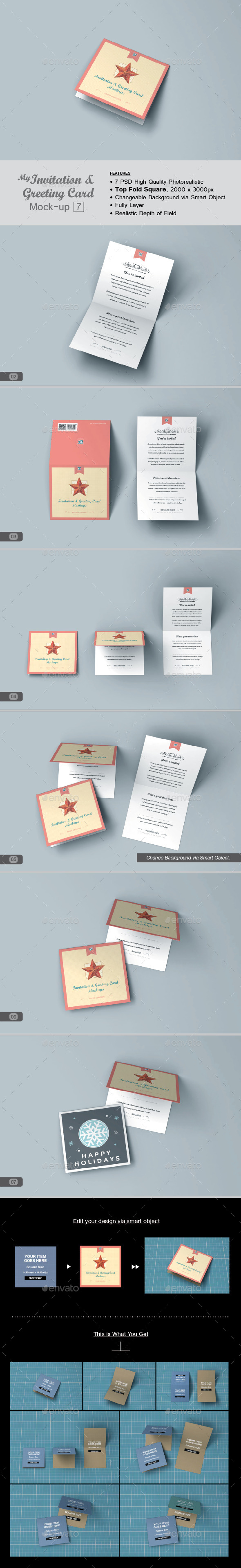 GraphicRiver myGreeting Card Mock-up v7 11585378
