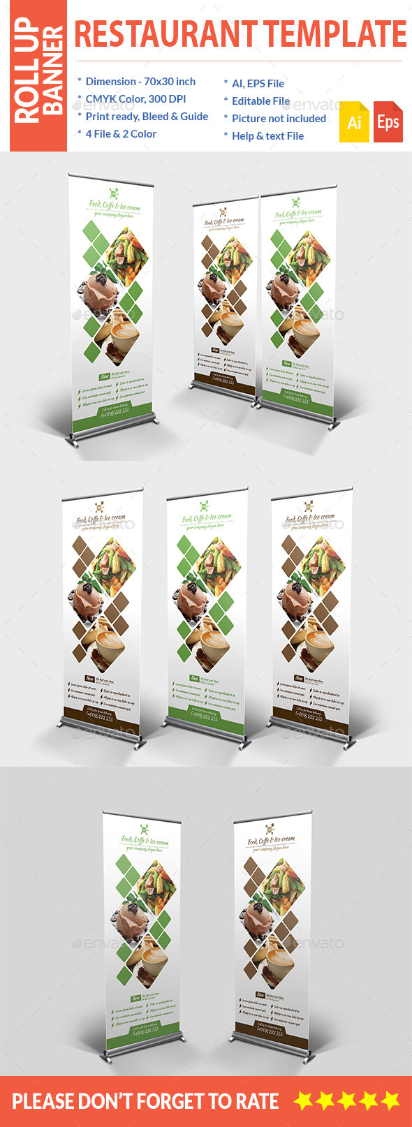 GraphicRiver Food Roll up Banner 11585444