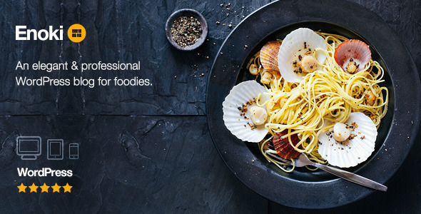 ThemeForest Enoki Personal Blog For Foodies 11585451