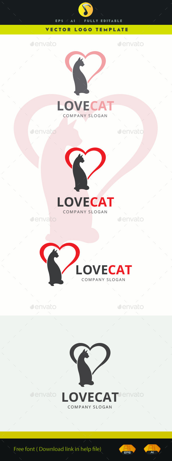 GraphicRiver Love Cat 11585454