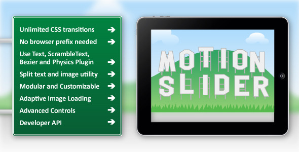 CodeCanyon Motion Slider jQuery Plugin 11577649