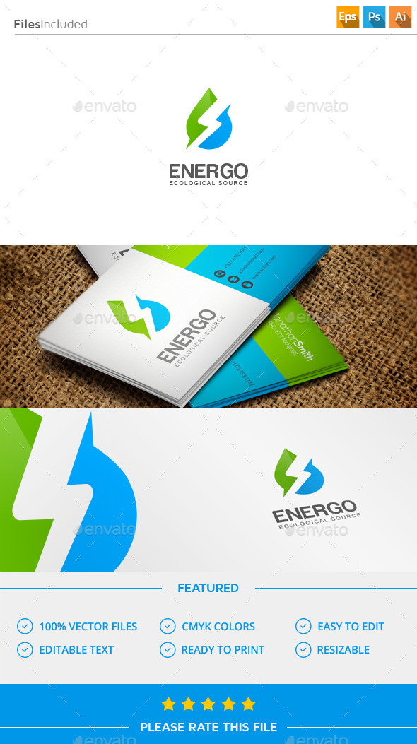 GraphicRiver Energy Water Logo 11573999
