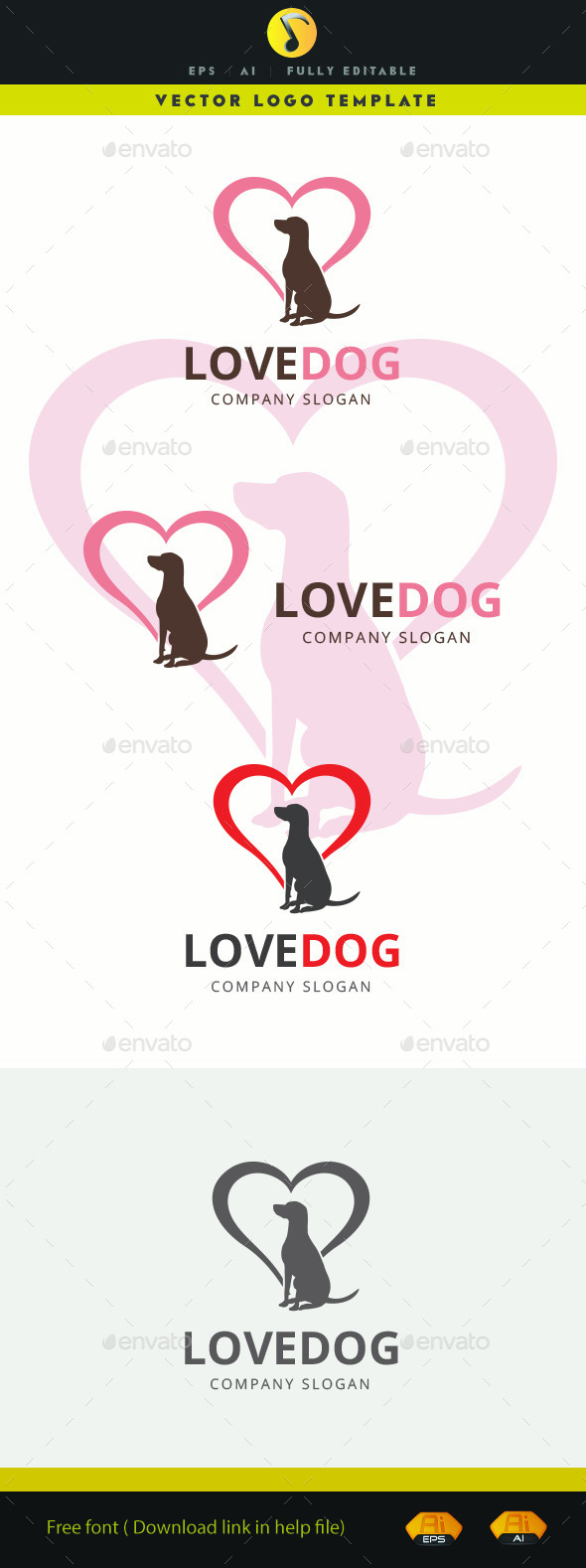 GraphicRiver Love Dog 11585902