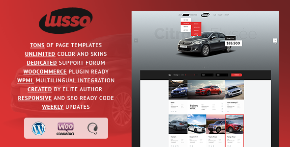 ThemeForest Lusso Car Rental WordPress Theme 11498661