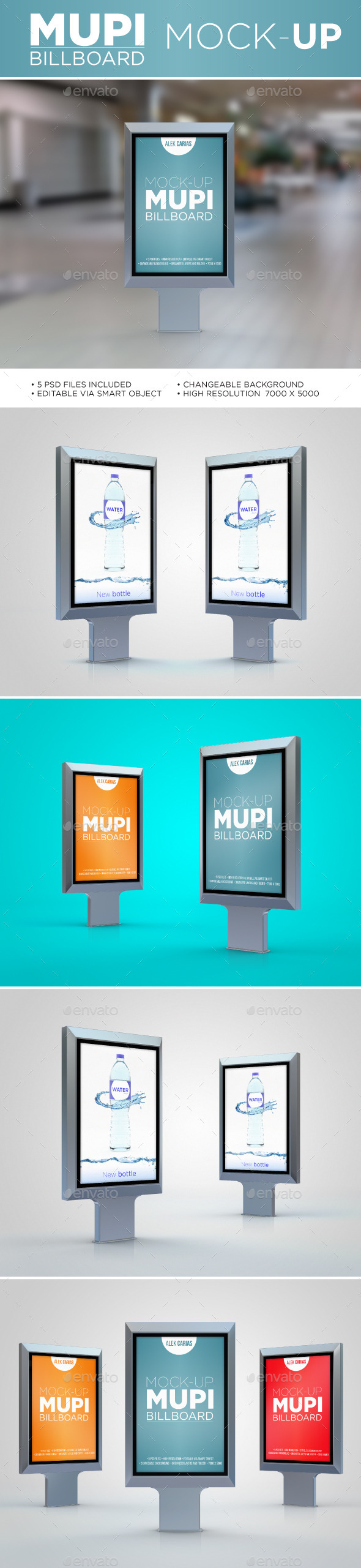 GraphicRiver Mupi Billboard Mock-Up 11585959