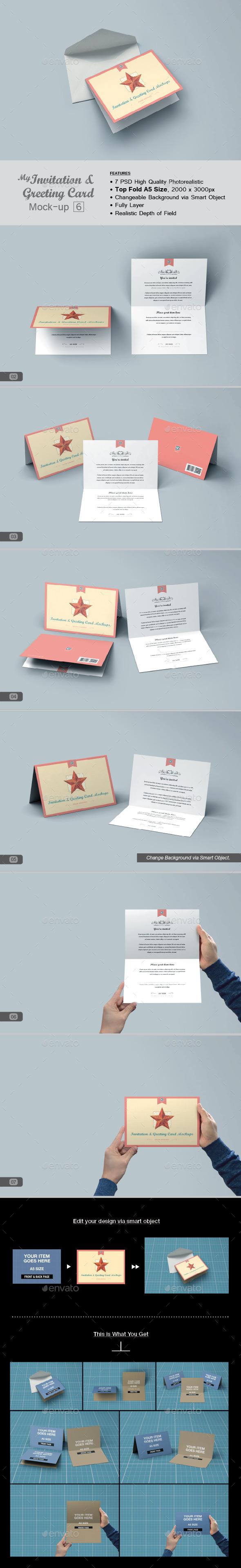 GraphicRiver myGreeting Card Mock-up v6 11564667