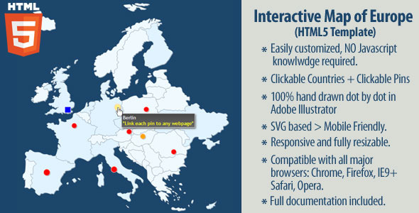 CodeCanyon Interactive Map of Europe 11586267
