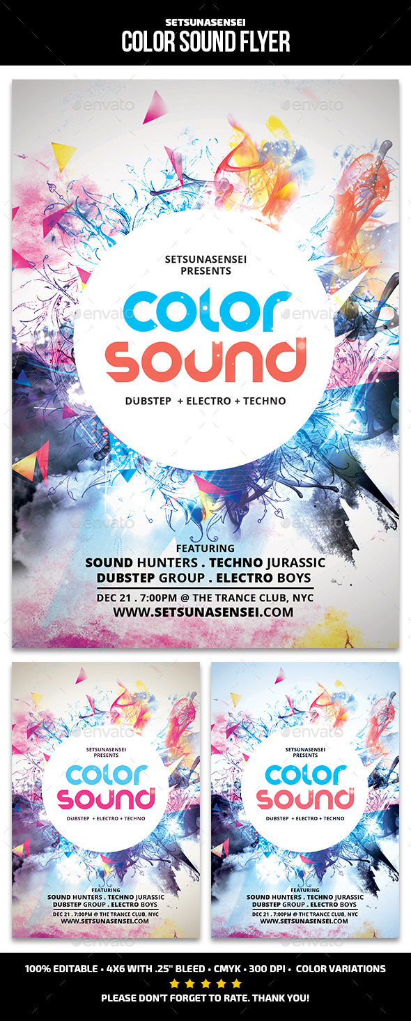 GraphicRiver Color Sound Flyer 11586432