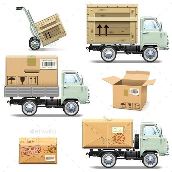 GraphicRiver Delivery Retro Light Truck 11587066