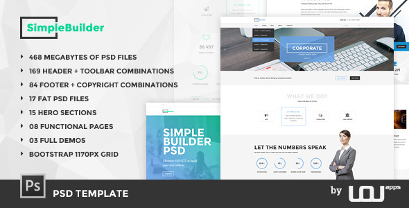 ThemeForest SimpleBuilder PSD Template 11454685