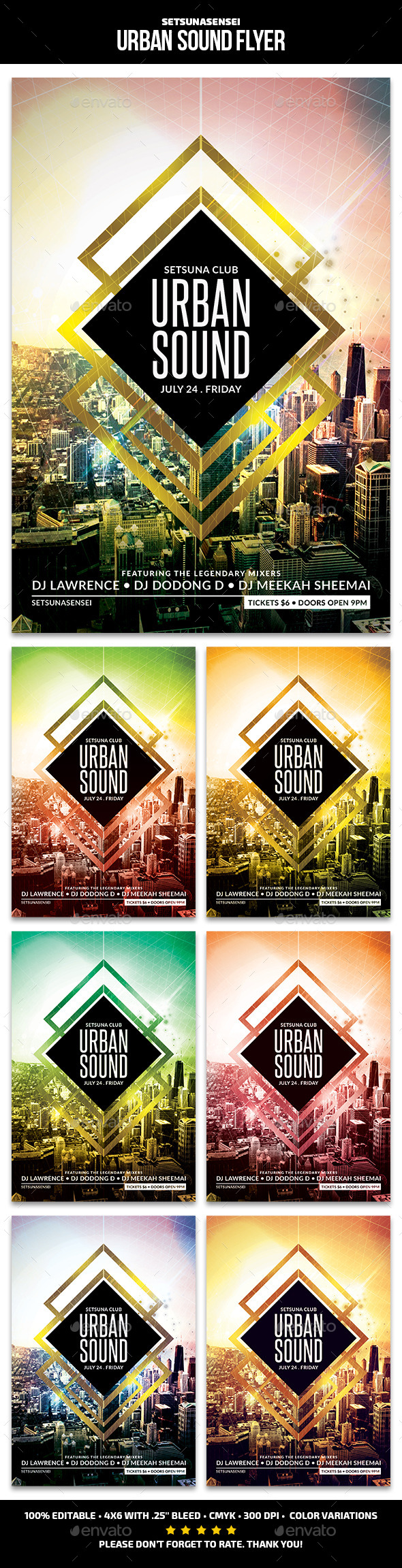 GraphicRiver Urban Sound Flyer 11587233