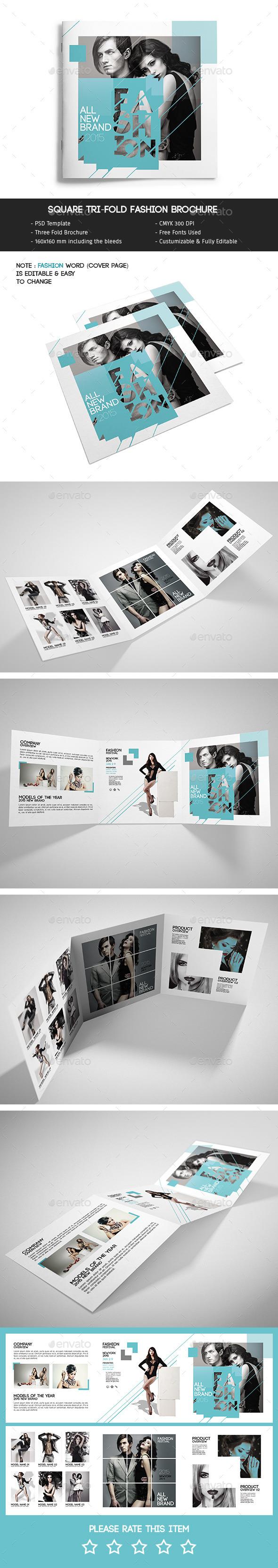 GraphicRiver Square Tri-Fold Fashion Brochure 11587366